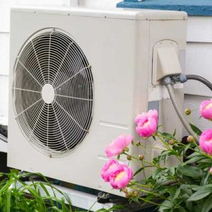 outdoor component of ductless mini-split HVAC system